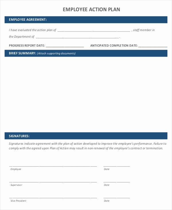 Performance Action Plan Template New 9 Performance Action Plan Templates Free Sample