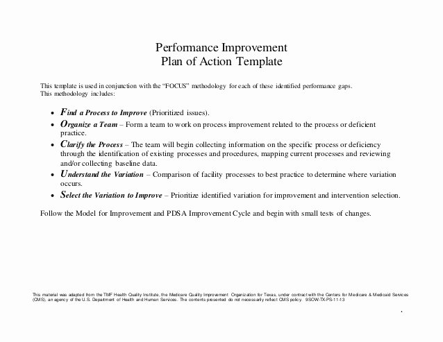 Performance Action Plan Template Unique Unity is Strength Action Plan Template