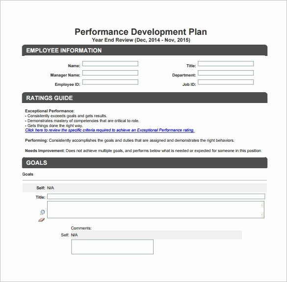 Performance Development Plan Template Awesome Development Plan Template – 11 Free Word Pdf Documents