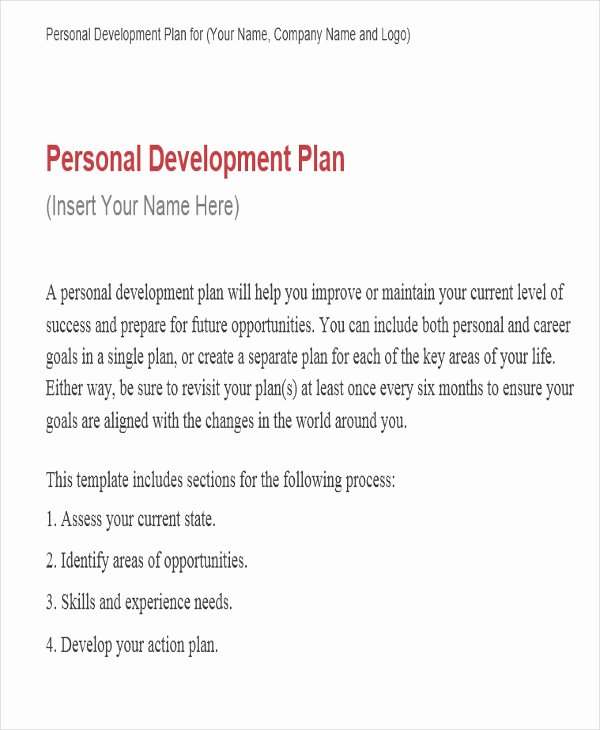 Performance Development Plan Template Best Of Performance Development Plan Templates 9 Free Word Pdf