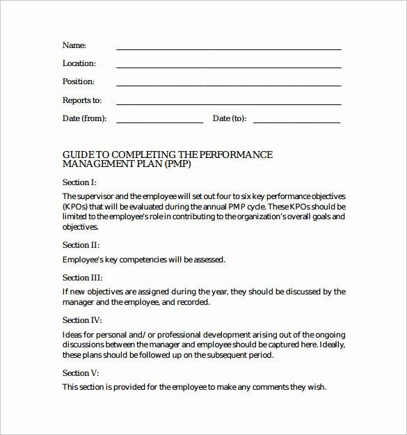 Performance Development Plan Template Elegant 7 Performance Plan Samples