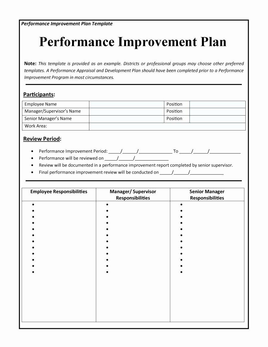 Performance Development Plan Template Inspirational 40 Performance Improvement Plan Templates & Examples