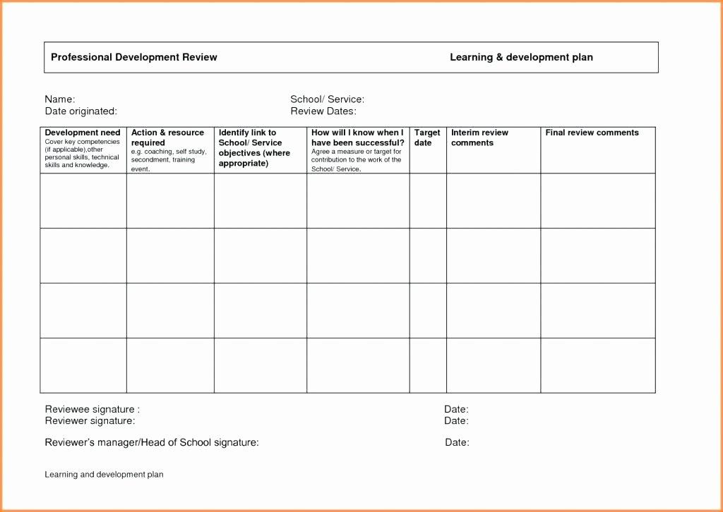 Performance Development Plan Template Lovely Performance Development Plans Templates Training and Plan