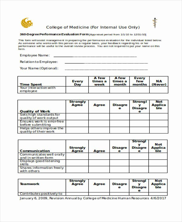 Performance Evaluation form Template Inspirational 29 Appraisal form Examples