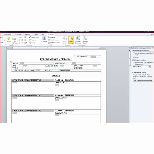 Performance Review form Template Awesome Free Downloadable Performance Appraisal form