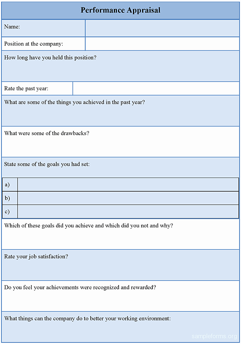 Performance Review form Template Elegant Annual Appraisal form Mughals