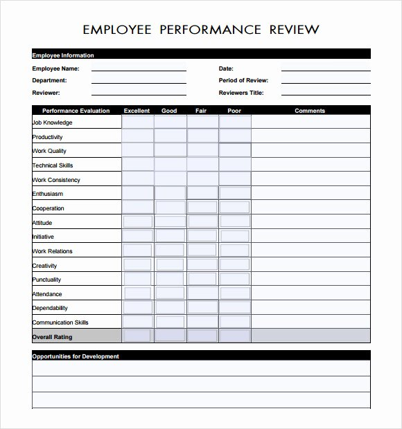 Performance Review Template for Managers Best Of 7 Manager Evaluation Samples