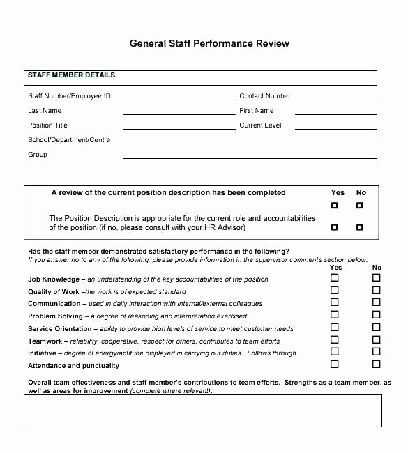 Performance Review Template for Managers Elegant Work Performance Evaluation Template Sample Employee
