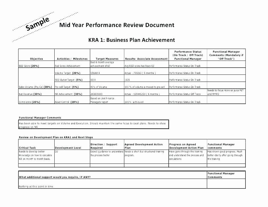 Performance Review Template for Managers Fresh Job Performance Review Template Employee 6 Month Job