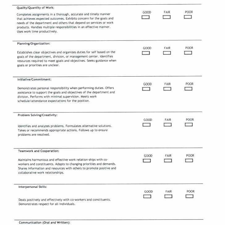 Performance Review Template for Managers Fresh Sales Performance Appraisal Template Free Templates for