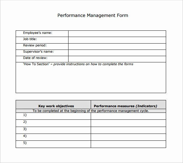 Performance Review Template for Managers Lovely Sample Performance Review Template 7 Documents In Pdf