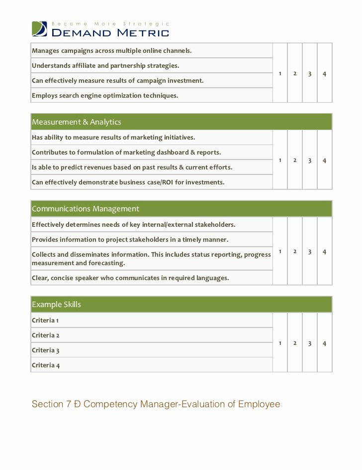 Performance Review Template for Managers Unique Performance Review Template