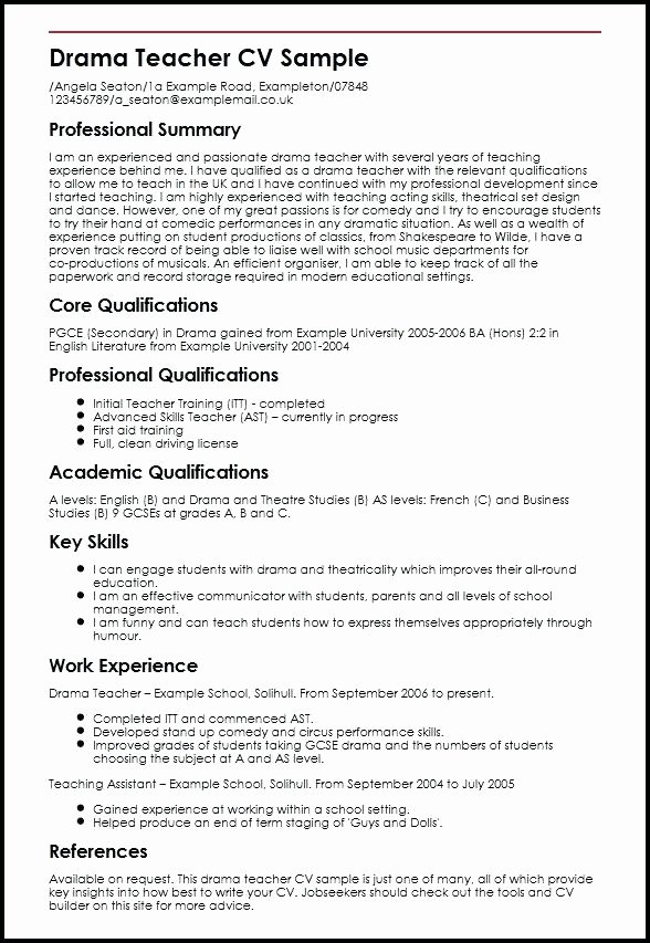 Performing Arts Resume Template Awesome Performing Arts Cv Template Resume New Best Free