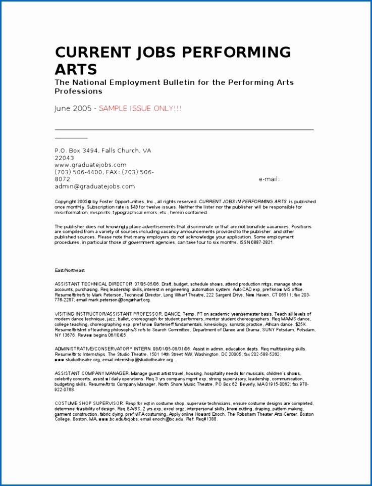 Performing Arts Resume Template Luxury 9 Seamstress Resume Sample