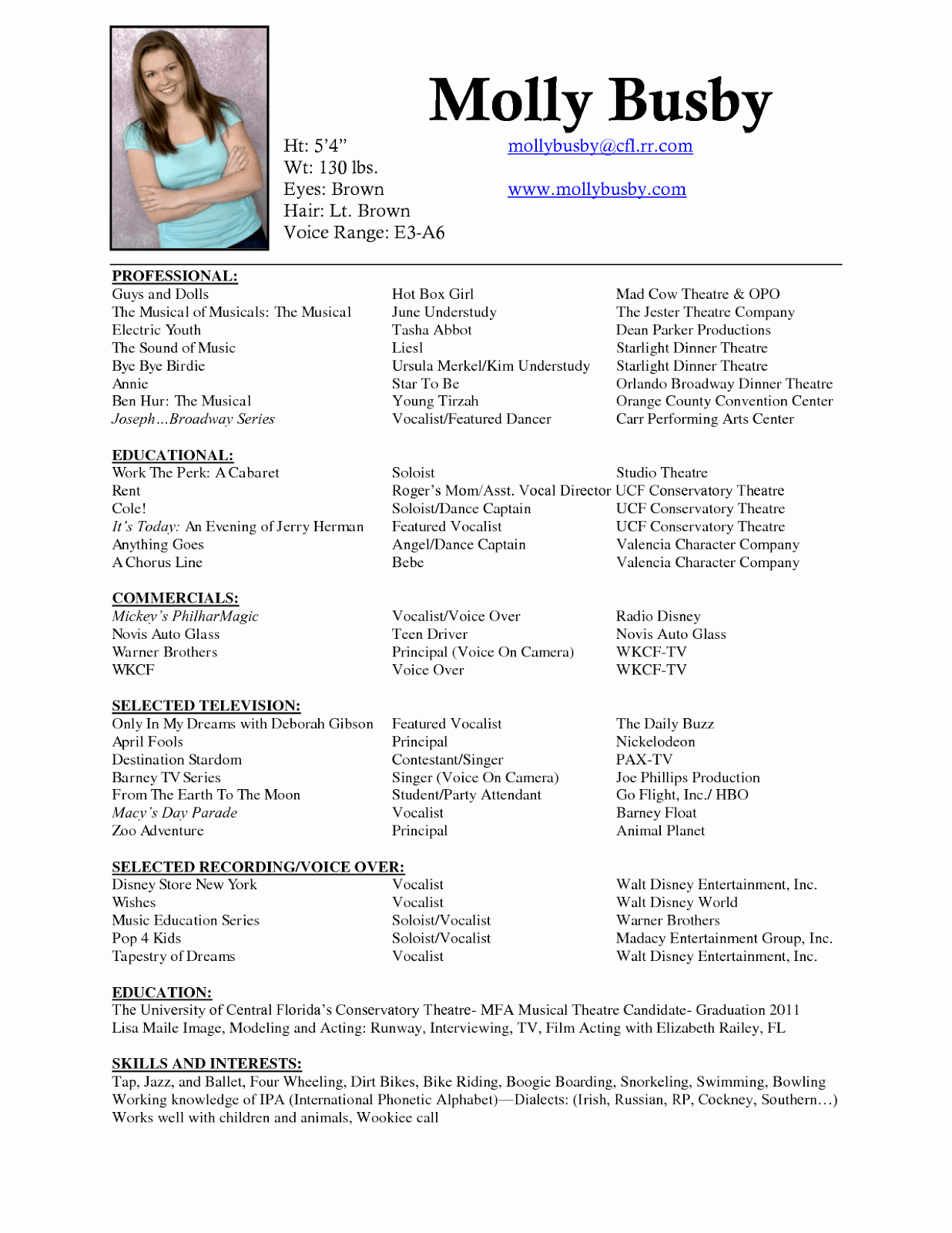 Performing Arts Resume Template New Inspiration Performing Arts Resume Samples In Dj Resume