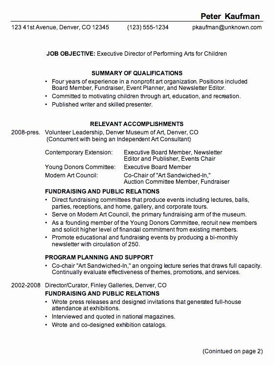 Performing Arts Resume Template Unique Performing Arts Resume Template Best Resume Collection