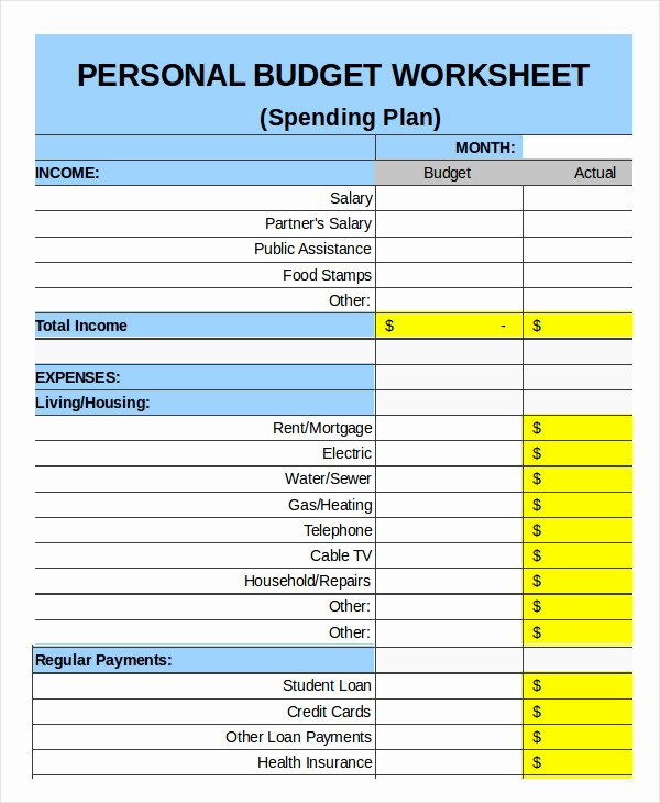 Personal Budget Planning Template Elegant Family Bud Template 9 Free Sample Example format