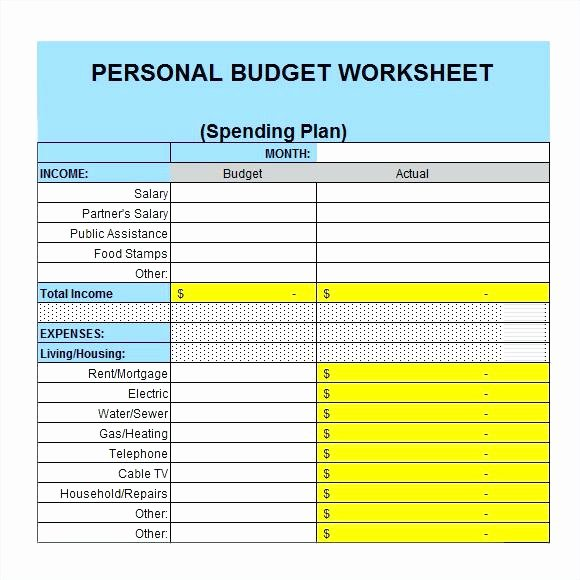 Personal Budget Planning Template Elegant Personal Financial Plan Template Excel – Echotrailers