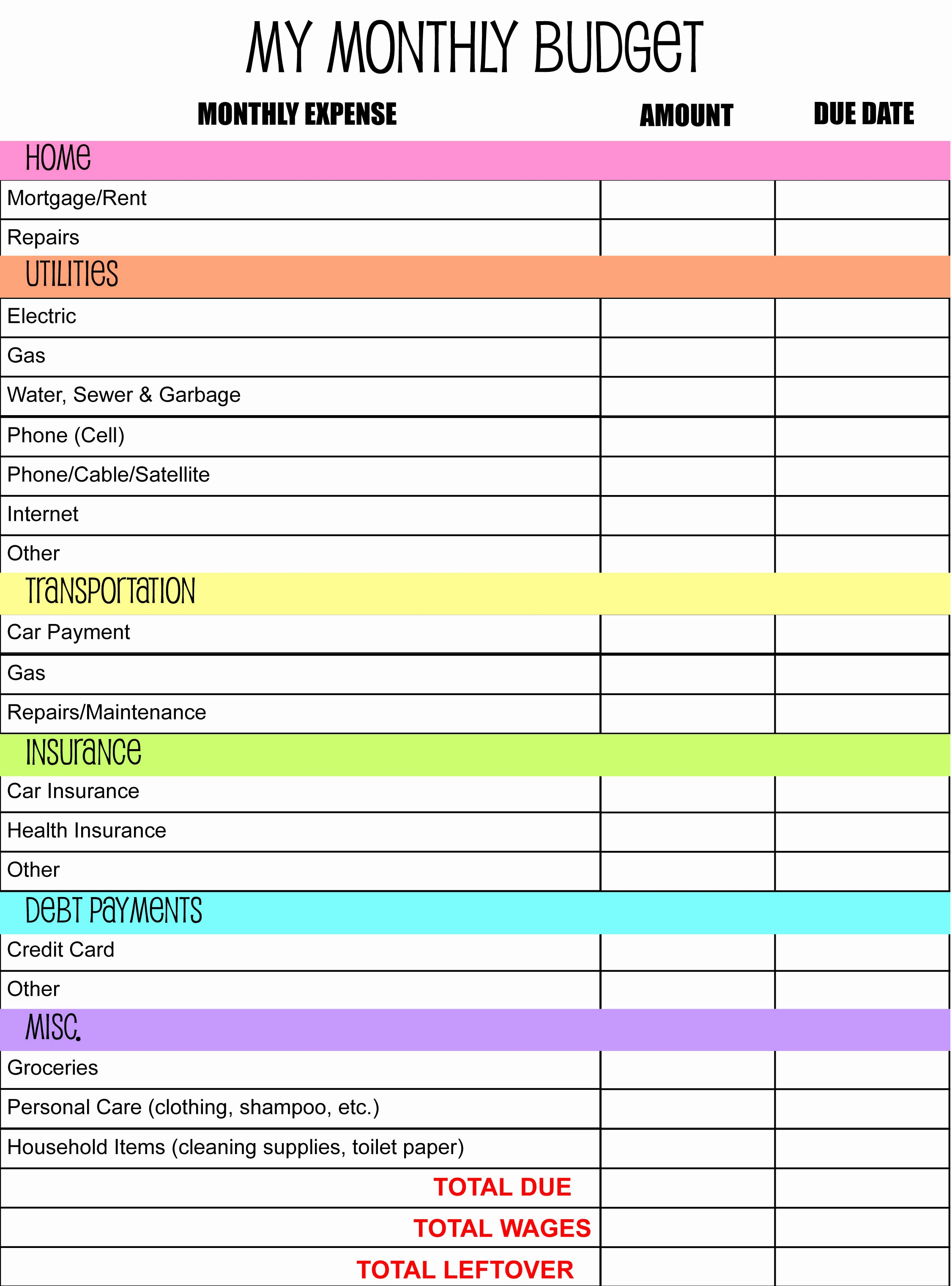 Personal Budget Planning Template Lovely Monthly Bud Planner I Made anderson Publications