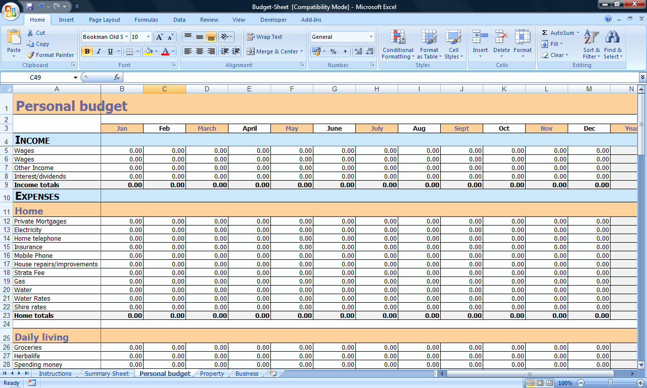 Personal Budget Planning Template New Bud Planner — Life Coach Manager