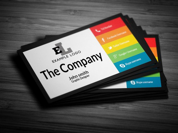 Personal Business Card Template Beautiful Colorful Personal Business Card Business Card Templates