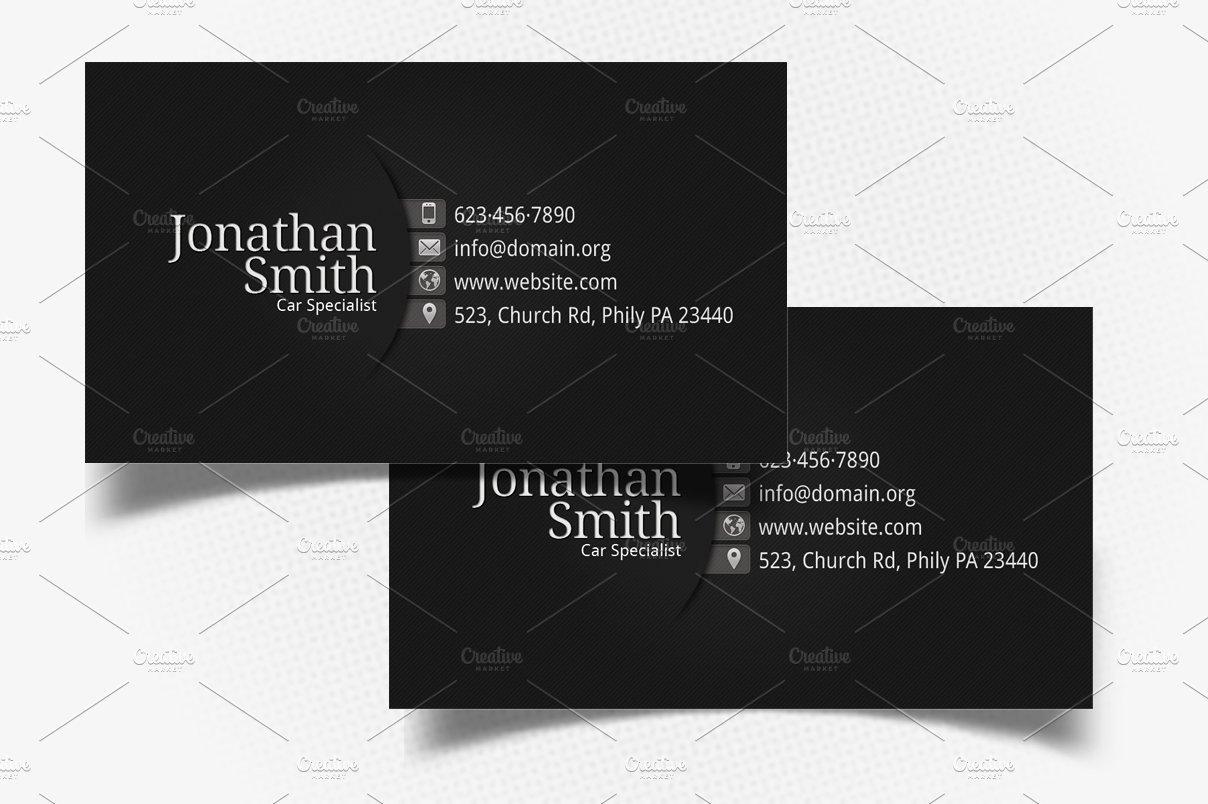 Personal Business Card Template Elegant Black Grey Personal Business Card Business Card