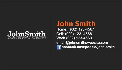 Personal Business Card Template Elegant Personal Business Cards