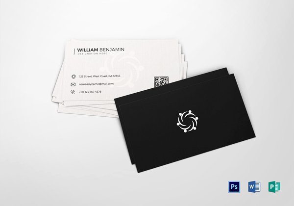 Personal Business Card Template Fresh 30 Minimalistic Business Card Designs Psd Templates