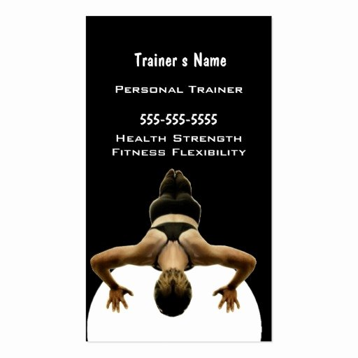 Personal Business Card Template Fresh Personal Trainer Business Card Template