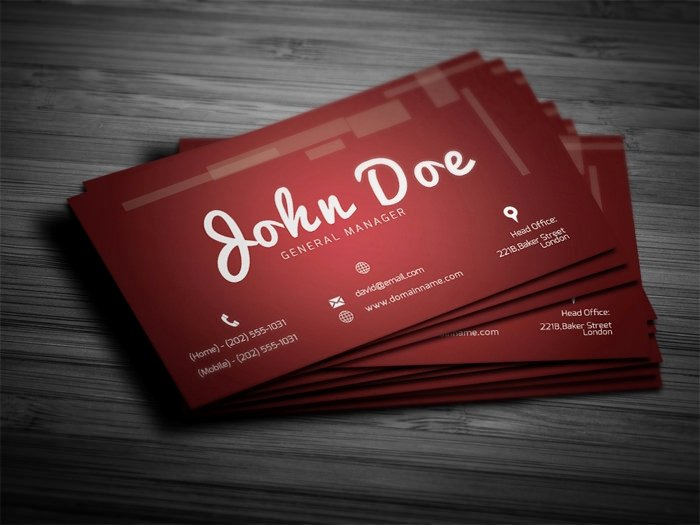 Personal Business Card Template New 28 Personal Business Cards