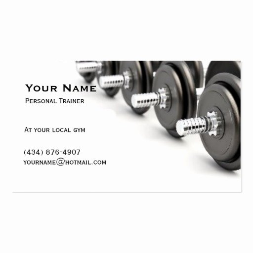 Personal Business Card Template Unique Personal Trainer Double Sided Standard Business Cards