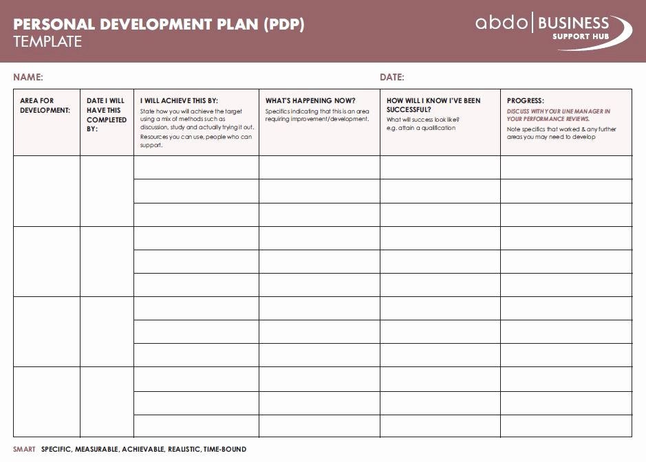 Personal Development Plan Template Awesome Personal Development Plan Template