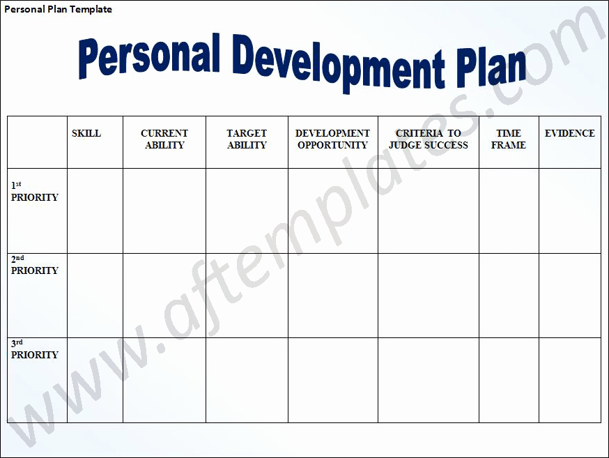 Personal Development Plan Template Beautiful Personal Development Plan Template