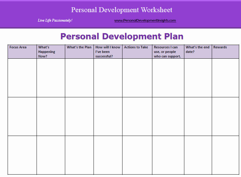 Personal Development Plan Template Lovely 6 Personal Development Plan Templates Excel Pdf formats