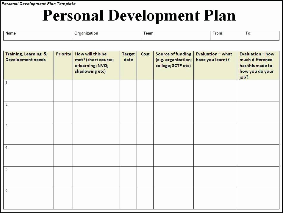 Personal Development Plan Template Lovely Personal Development Action Plan Template – Flybymedia