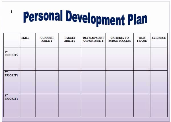 Personal Development Plan Template Luxury Help Yourself by Following these Great Self Improvement