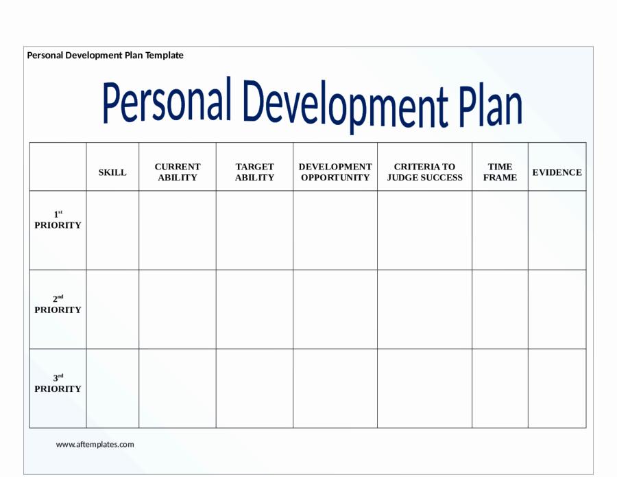Personal Development Plan Template New Personal Development Plan Template How to Write Personal