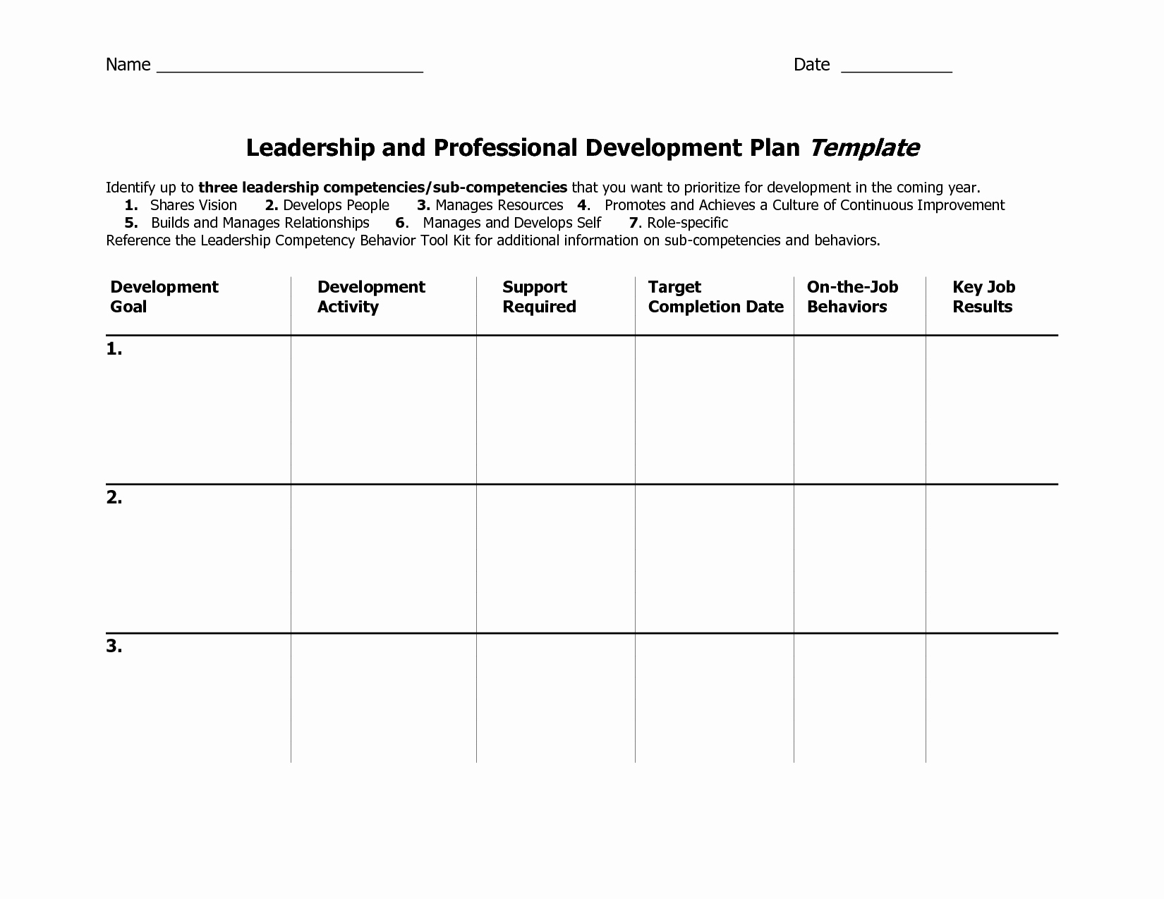 Personal Development Plan Template Unique Individual Development Plan Template Word Google Search