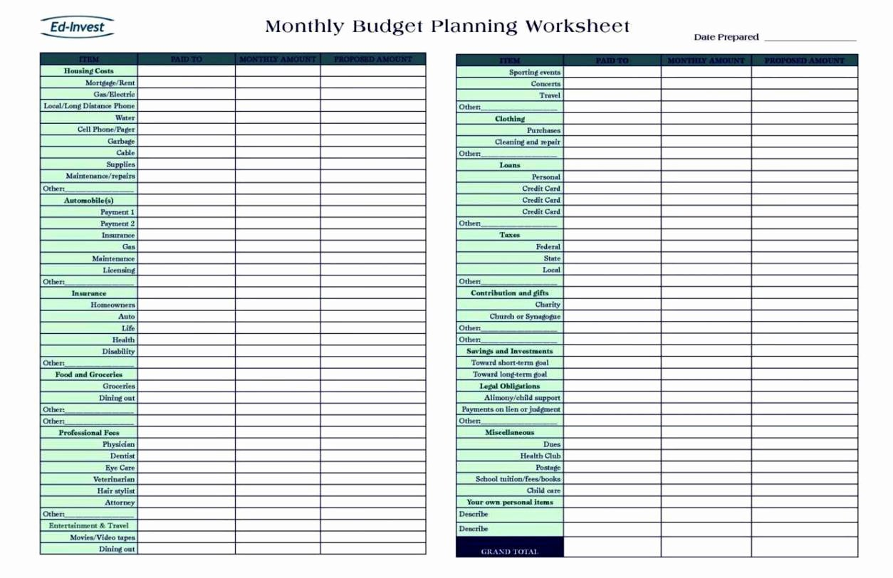 Personal Finance Planner Template Lovely Personal Financial Planning Template Free