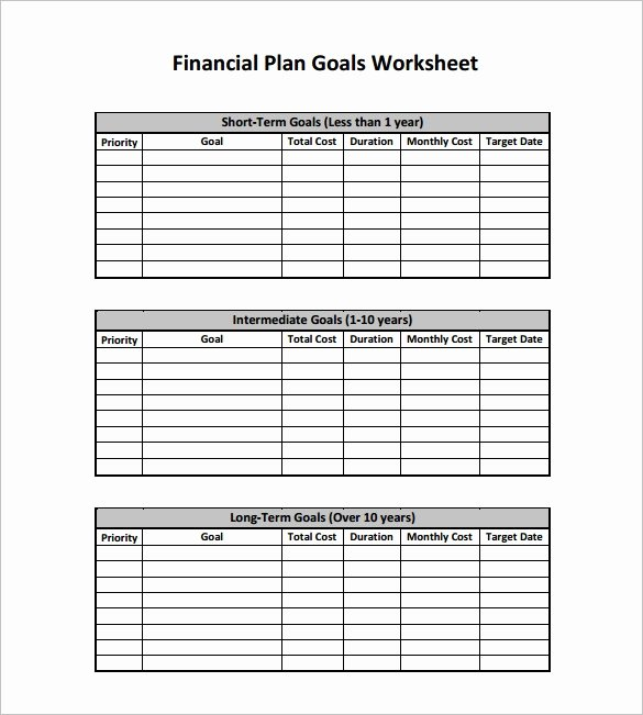 Personal Financial Plan Template Best Of Financial Plan Templates 11 Word Excel Pdf Documents