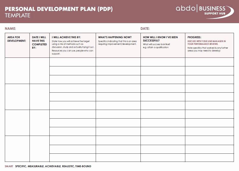 Personal Improvement Plan Template Beautiful Personal Development Plan Template