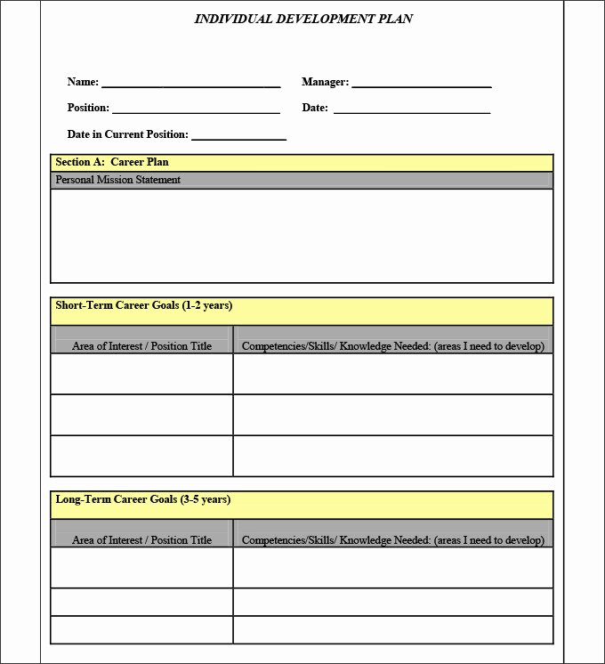 Personal Improvement Plan Template Elegant Sample Personal Development Plan Template 10 Free