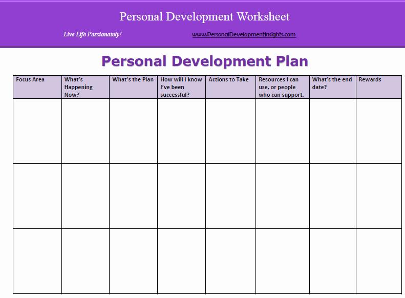 Personal Improvement Plan Template Lovely 6 Personal Development Plan Templates Excel Pdf formats