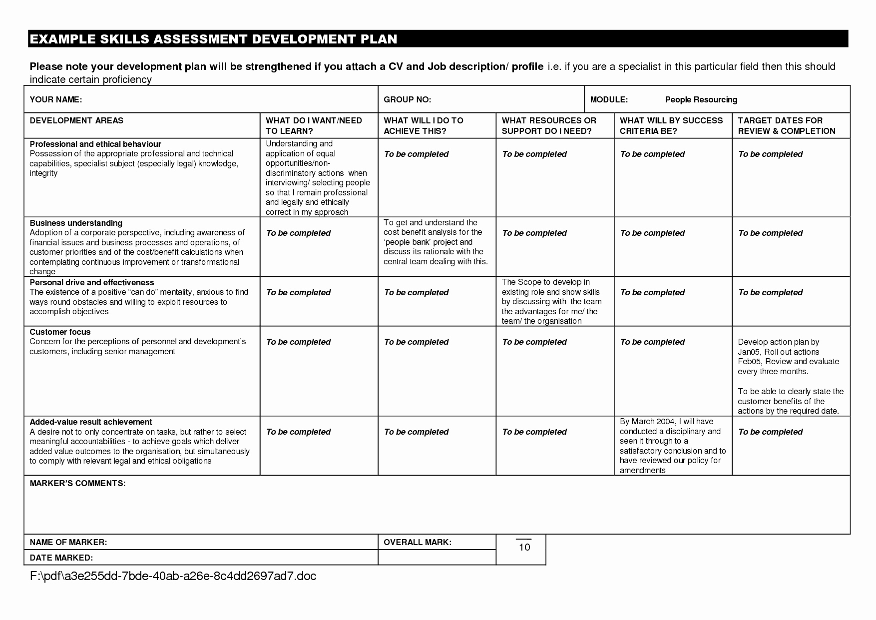 Personal Improvement Plan Template New Personal Development Plan Example for Students Google