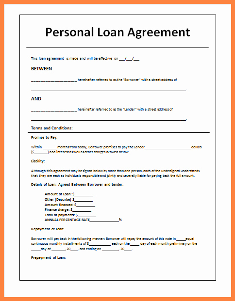 Personal Loan Agreement Template Free Luxury 5 Sample Loan Agreement Letter Between Friends