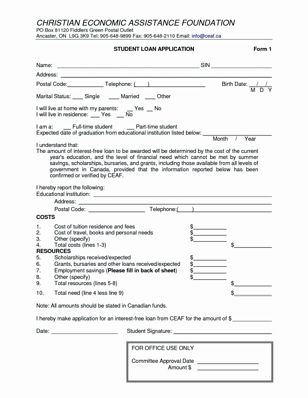 free personal loan agreement form template