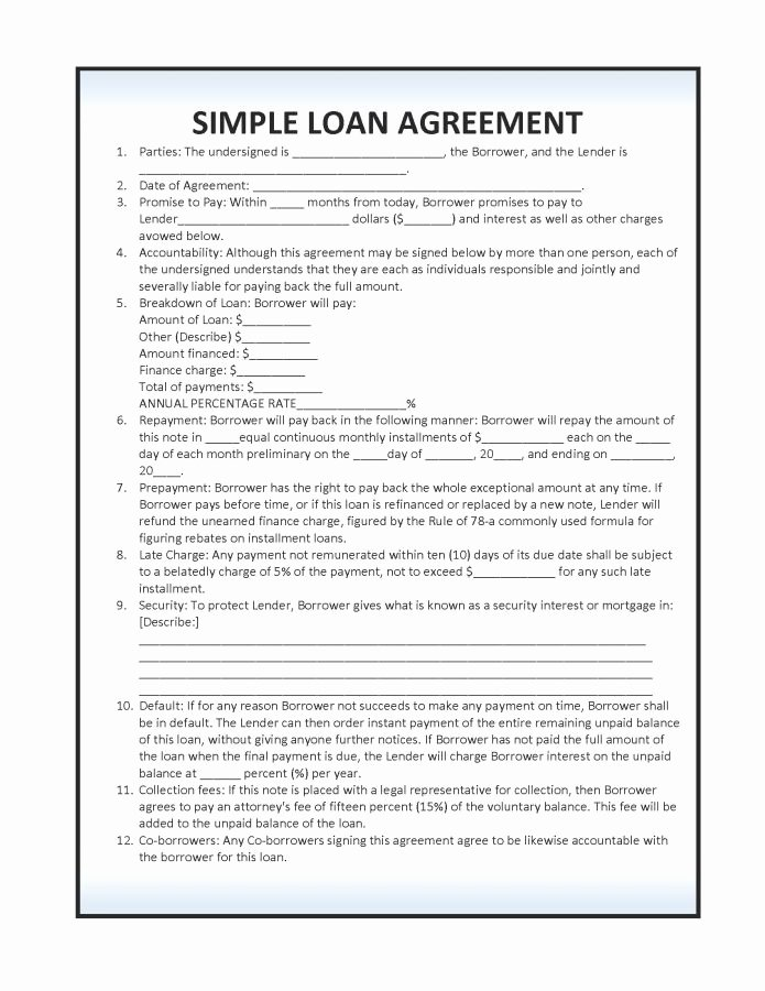 Personal Loan Contract Template Free Lovely Simple Loan Agreement Sample Vatansun