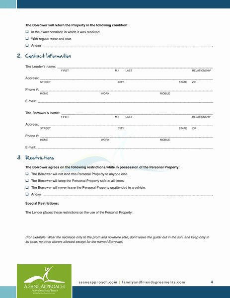 Personal Loan Contract Template Free Unique Free Printable Personal Loan Agreement form Generic