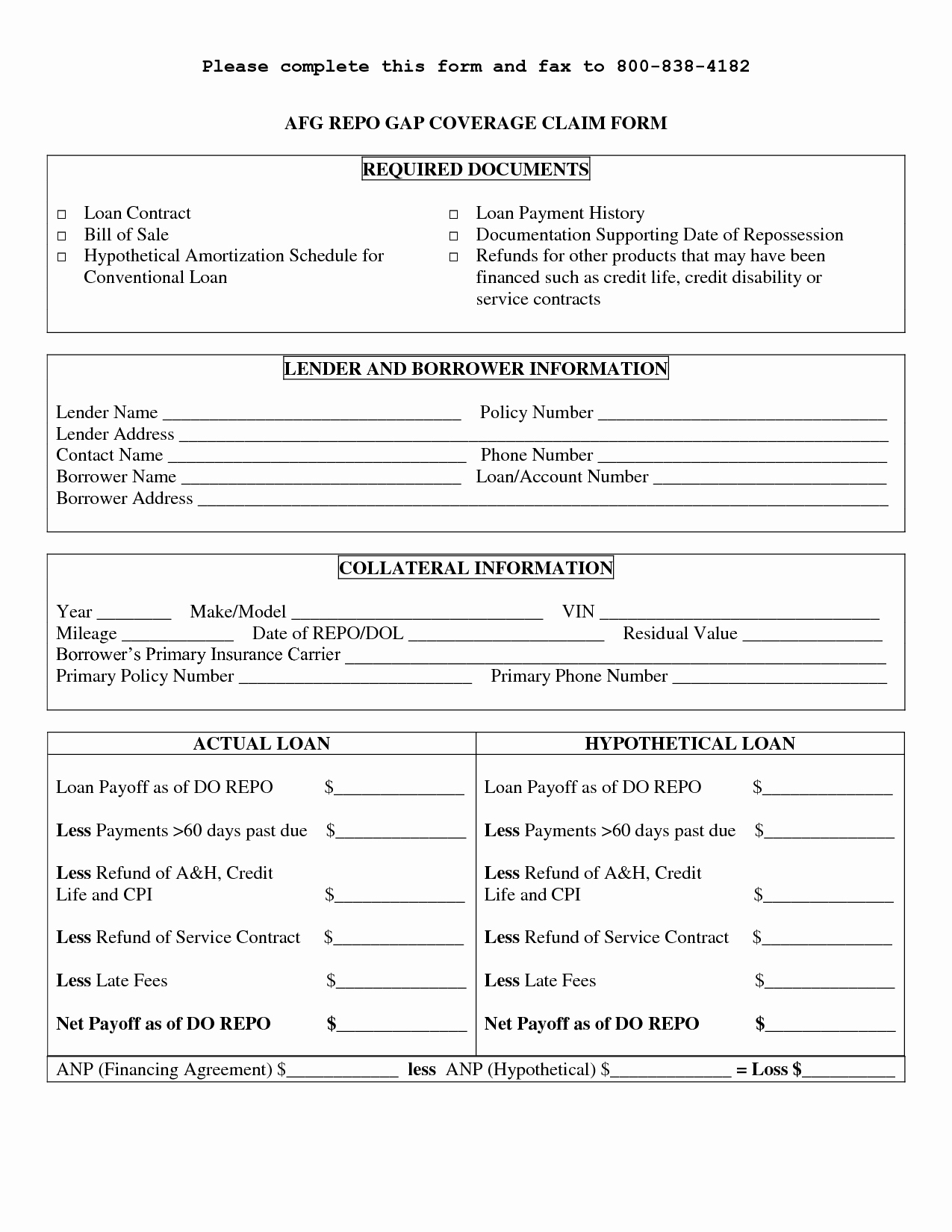 Personal Loan Contract Template Fresh Free Printable Personal Loan Contract form Generic