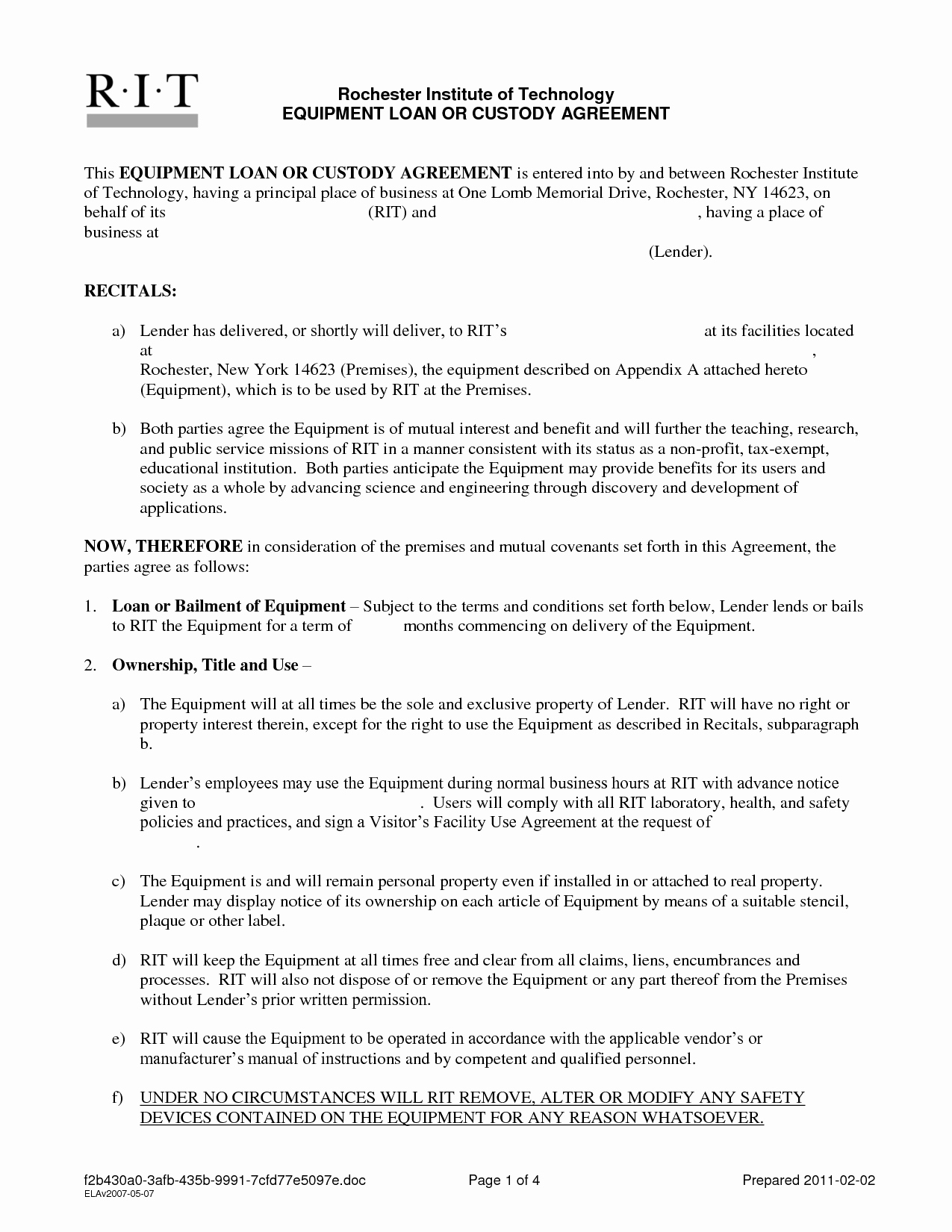 Personal Loan Contract Template New Free Printable Personal Loan Contract form Generic
